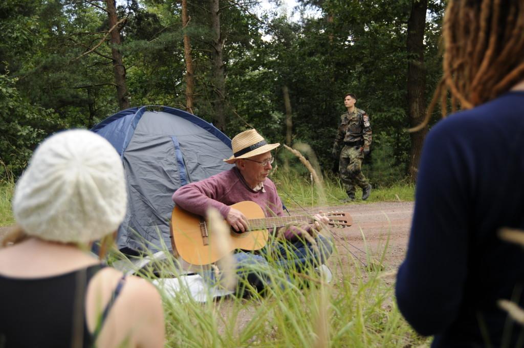 2. Besetzung (20.8.2014), Foto: Jens Volle / Gewaltfreie Aktion GÜZ abschaffen