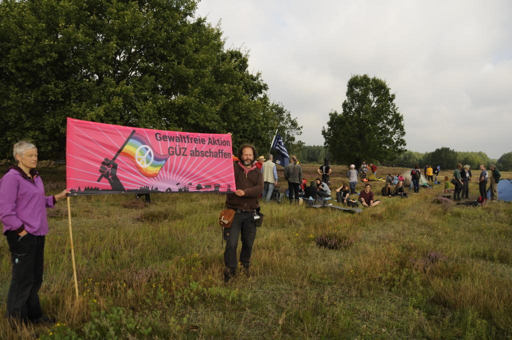 Besiedelung des GÜZ, Foto: Jens Volle / Gewaltfreie Aktion GÜZ abschaffen